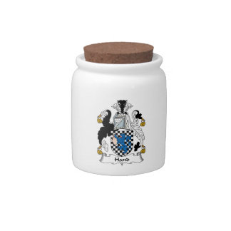 Hand Family Crest Candy Dishes
