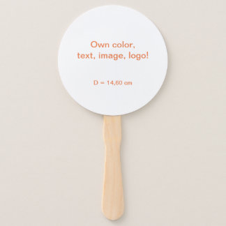 Hand Fan Round uni White – Own Color