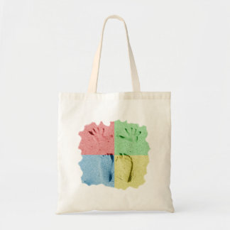 Hand Feet Prints in sand four color Canvas Bag