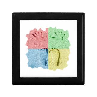 Hand Feet Prints in sand four color Keepsake Box