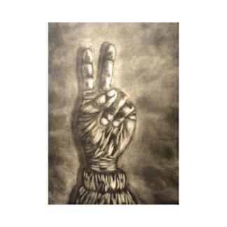 Hand Figure #2 Canvas Print