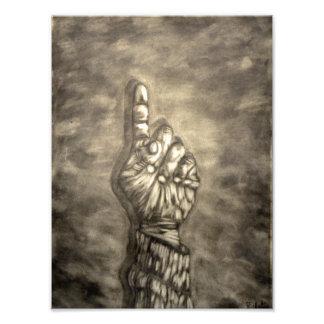 Hand figure photo print