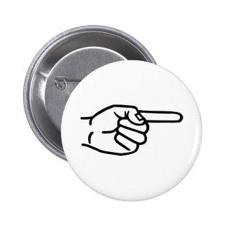 Hand finger button