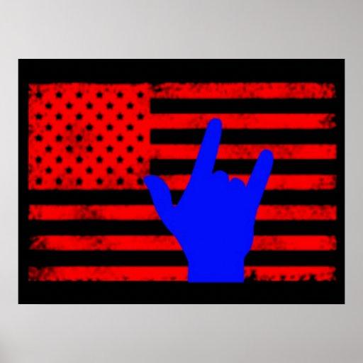 hand flag poster