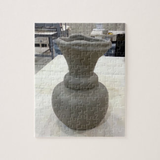 Hand Formed Coil Vase Drying in Ceramics Studio Jigsaw Puzzle