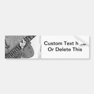 Hand fretting guitar bw sketch car bumper sticker