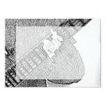 Hand fretting guitar bw sketch custom invitations