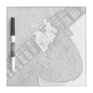Hand fretting guitar bw sketch Dry-Erase board