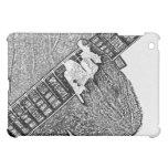 Hand fretting guitar bw sketch iPad mini cover