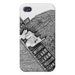 Hand fretting guitar bw sketch iPhone 4/4S cases