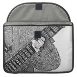 Hand fretting guitar bw sketch MacBook pro sleeves
