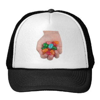 Hand full of jelly beans hats