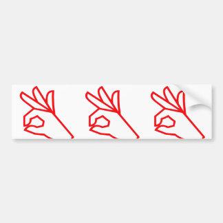 Hand Gesture EXCELLENT Outstanding Great Bumper Stickers