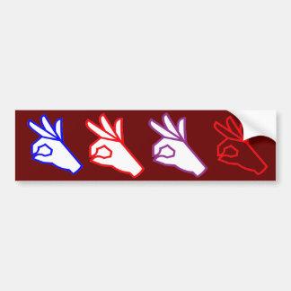 Hand Gesture EXCELLENT Outstanding Great Bumper Sticker
