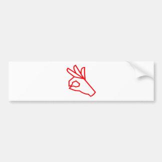Hand Gesture Outstanding Excellent Bumper Sticker