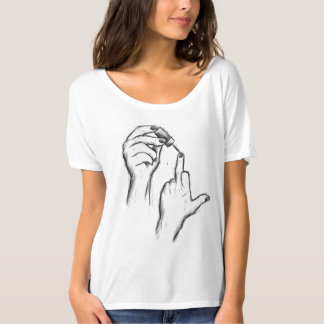 Hand Gesture Women modern T-shirt
