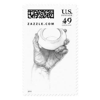 hand_graphite postage stamp