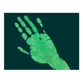 Hand - Green Postcard