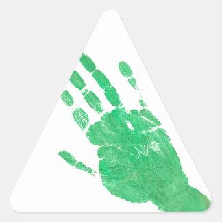 Hand - Green Triangle Sticker