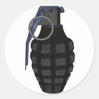 Hand Grenade Classic Round Sticker