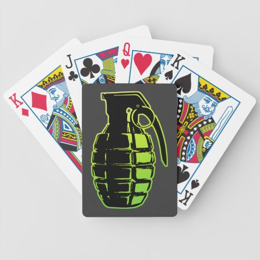 Hand Grenade Deck Of Cards