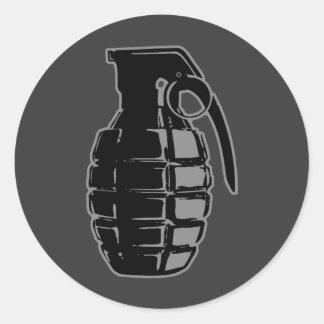 Hand Grenade - gray Sticker