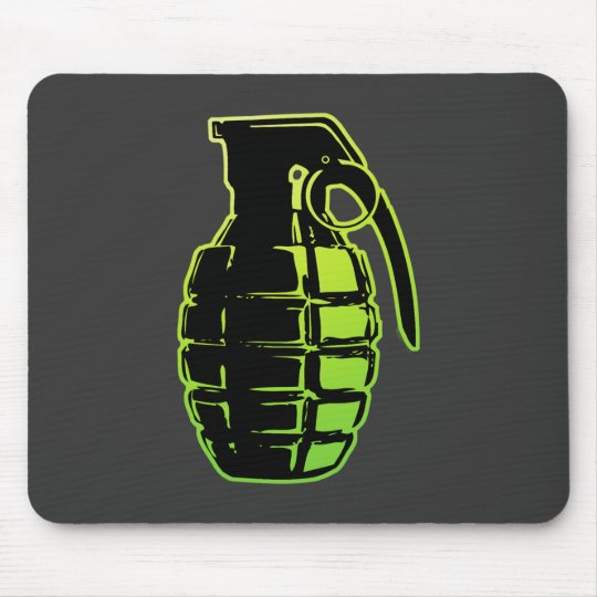 Hand Grenade - green Mouse Pad