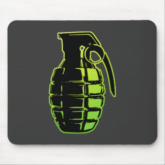 Hand Grenade - green Mouse Pads