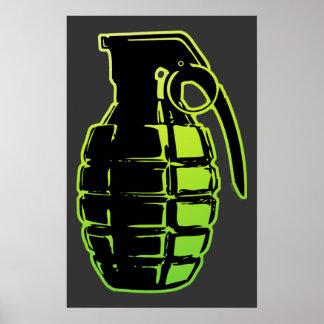 Hand Grenade - green Poster