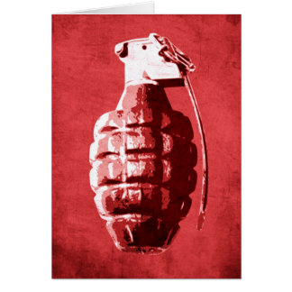 Hand Grenade on Red Card