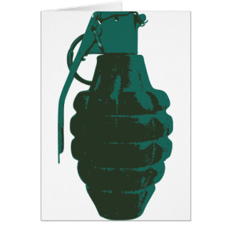 Hand Grenade War Military Bomb Army Marines Card