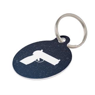 Hand Guns Minimal Pet ID Tag