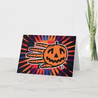 Hand Halloween Jack card card