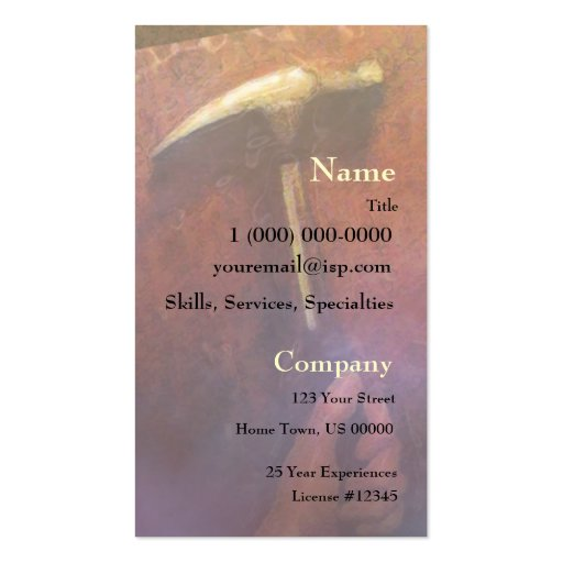 Hand & Hammer Carpentry Business Card