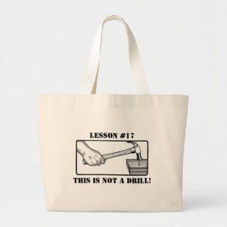 Hand, Hammer, Nail - Not a Drill Large Tote Bag