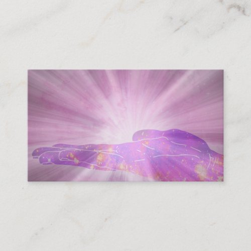 Hand Healing  Radiating Love and Light Energy Business Card