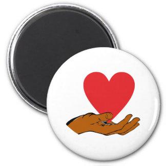 Hand heart hand heart magnet