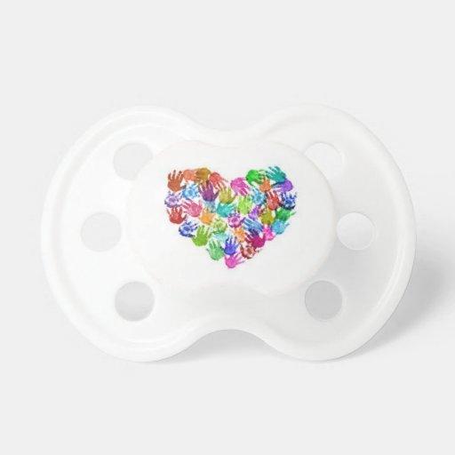hand-heart pacifier BooginHead pacifier
