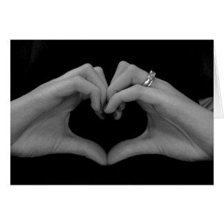 Hand Heart Wedding Card