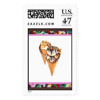 Hand Held Sundae Postage Stamps