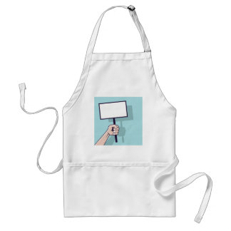 Hand holding a blank sign Vector Adult Apron