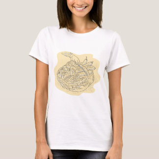 Hand holding basket full harvest crops T-Shirt