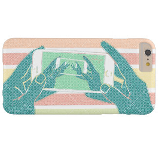 Hand Holding Cell Phone Barely There iPhone 6 Plus Case