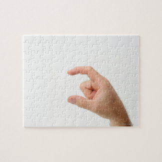 Hand Holding, Empty Jigsaw Puzzle