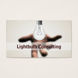 Hand Holding Light Bulb Consulting business card