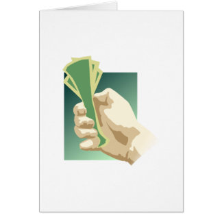 Hand Holding Money Stationery Note Card