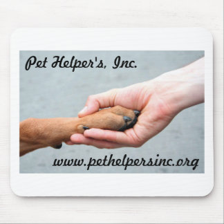 Hand Holding Paw Mouse Pads