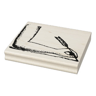 Hand Holding Quill Pen Rubber Art Stamp