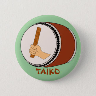 Hand Holding Stick Taiko Drum Japanese Drumming Button