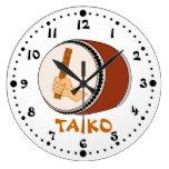 Hand Holding Stick Taiko Drum Japanese Drumming Wall Clocks
